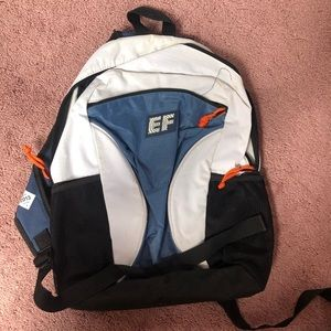 Education First Blue & White Backpack